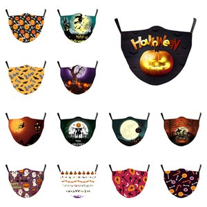 Hallowee 3D printed designer face mask dust-proof and ear-hanging mask personalized parody breathable can put filter face masks HWD2000