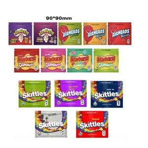 Skittles Airheads XTREMS Starburst Gummies Кислое WEARHEADS 400мг 408MG Майларовую Сумка Пусто Лечебного Sour Радуги Gummy Сумки Zipper мешков для упаковки