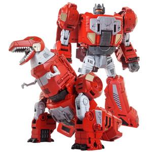 어린이를위한 특대 변환 로봇 공룡 완구 Brinquedos 액션 피규어 18-22cm 변형 클래식 장난감 선물