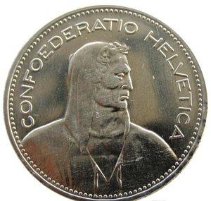 Francos Unc 5 banhado Suíça níquel prata Latão (5 Franken) 1948 (confederação) Cópia Coin Diâmetro: 31,45 milímetros bbygl bwkf