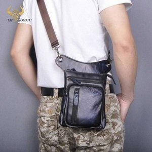 Genuine Real Leather Design Men Cross Body Satchel Bag Fashion Organizer Fanny Waist Belt Pack Drop Leg Bag Tablet Case 211 11 Best Ha nsrT#