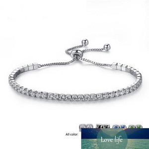 Fashion Cubic Zircon Tennis Bracelet & Bangles For Women Gifts New One Row Wedding Crystal Bracelets 4 Colors