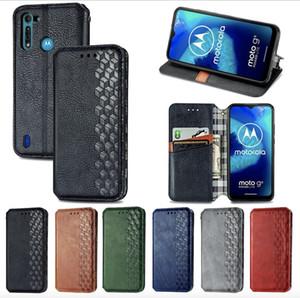 Cubierta de cuero de lujo de PU para Motorola G9 Play Plus Pro G8 Power Lite Edge Sony Xperia 1 10 II KYV 43 47 Flechas 5G F-51 BE4 F-11 Funda