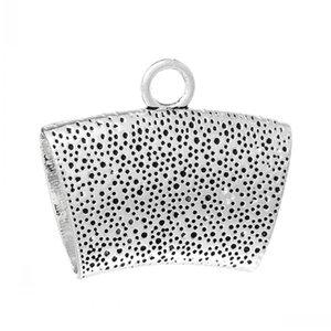 Dorabeads Bail Beads para o envoltório do lenço de prata antigo 4,4 centímetros x 3,7cm, 20pcs