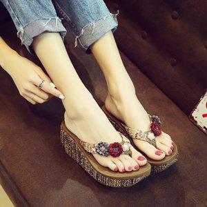 Bosimi novo calcanhar exterior alta anti-derrapante confortável flip-flops e sandálias flip-flops sandálias de verão chinelos de mulheres