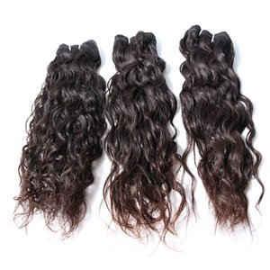 Peruvian water wave virgin wholesale human hair bundles 3 pcs with closure high quality hair extensions for eomrn