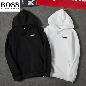 С капюшоном пуловер в корейском стиле БОСС новый стиль осени Hoodie Мужская мода студентов одежда осень и зима Tops Пары пальто Hon