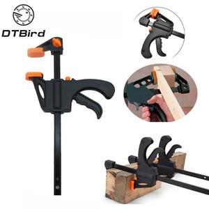 """4"""" strumenti di compressione della mano pollici F Lavorazione del legno a pinza di serraggio dispositivo regolabile fai da te Falegnameria Gadget rapido Ratchet uscita velocità DT6"""