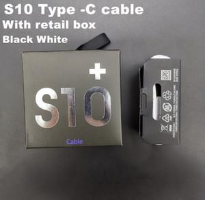 DHL 100 piezas 100% auténtico original de tipo cable 1m c USB Data Sync cable del cargador para Samsung S10 S10 además s9 s8 s8 Plus con caja al por menor