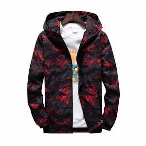 MORUANCLE 2019 para hombre primavera Camo chaqueta de las chaquetas de camuflaje con capucha informal para los jóvenes más el tamaño M 7XL prendas de vestir exteriores # v5VA