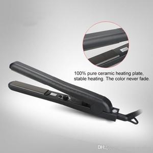 Puro al 100% de cerámica de 1 pulgada plancha de pelo de temperatura PTC calentador Dail. Control de 220 grados Celsius hierro plano del pelo