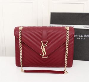 uno-spalla bag 7A di fascia alta qualità personalizzati diagonali incrociate sacchetto di modo di stile di accessori in metallo dorato delle nuove donne con tracolla lunga.