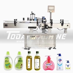 automatic round bottle jar cans stickers desktop labeling machine for plastic glass metal