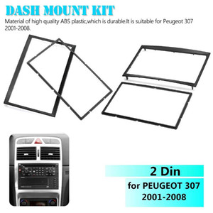 Car Auto 2 Din CD Trim Dash Mount Kit Stereo Radio Fascia Dashboard Panel Plate Frame Adaptor for 307 2001-2008