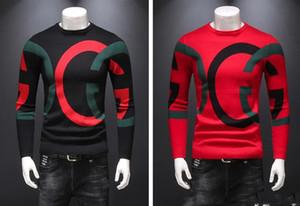 Üst düzey soylu üst kazak moda yüksek kaliteli spor büyük beden M kazak Uluslararası yeni asil ceket Yumuşak sıcak alfabe - 4XL