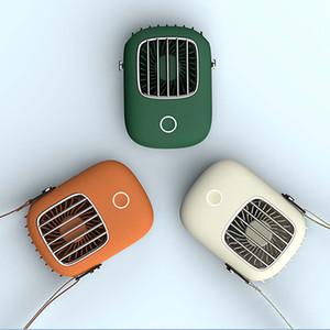 NEW Portable Hanging Neck Fan Mini 3 Gears Adjustable Air Cooling Fan Summer Outdoor Travel Lanyard Handfree Cooler USB
