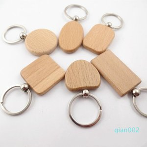 DIY 사각형 광장 라운드 하트 모양 무료 배송 LXL934 조각 개인 새겨진 키 체인 사용자 정의 귀여운 빈 나무 열쇠 고리