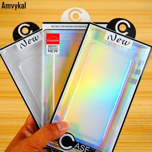 Moda Lazer Blister PVC Plastik Şeffaf Perakende Ambalaj Kutu iPhone'u 12 11 8 7 4.7 6.5 Cep Telefonu Kılıf Paketleme