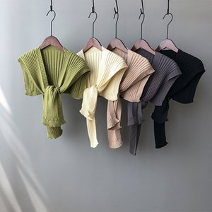 2020 autumn new double knit shawl outside the ride sleeveless waistcoat female Korean loose casual scarves