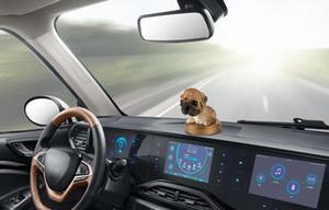 Ornement voiture Remuer la tête de chien Poupée Parfum solide Décoration Automobile Mignon Intérieur Tableau de bord Bobble Head Dog Toys Accessoires Tous Ca JZWY #