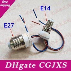 E14 E27 Blei Power-Lampen-Halter 220V E14 E27 Lampenfassung Schraube mit Draht Kunststoff-Fassung Für Einbau Modification
