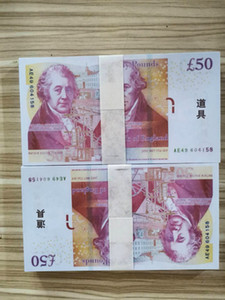 Ночной клуб Бар British United Kindom Банкнота 50 фунтов Примечание для сбора или Бизнес подарков Prop и поддельных бумажных денег GBP Цены векселей 01