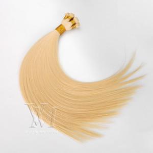 Vmae 11A 100g indisches Haar Handtied Haar Doppel Gezeichnet Silk gerade natürliche Jungfrau Remy 100% Rohboden Hand gebunden Hand gebunden Schuss Menschliches Haar