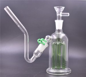 5.5inch Beaker Glass Bongs 8 Arms Tree Perc Dab Rig Glass Water Pipe 14mm 18mm ashcatcher bong with glass oil burner pipe