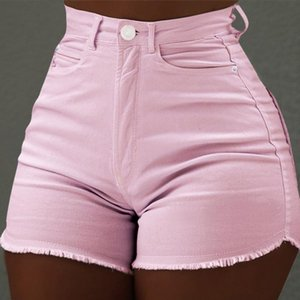 Summer Hot Pants Solid Color Slim Skinny Shorts Fashion Girls Jeans Sexy Straight High Waist Jeans Hot