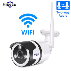Hiseeu Wifi Outdoor IP Camera 1080P Outdoor Waterproof 2.0MP Wireless CCTV Security Camera metal two-way audio P2P ONVIF