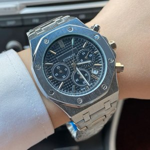 Nuevos relojes de cuarzo automáticos de moda para hombre de 45 mm de acero inoxidable de alta calidad relojes de pulsera Montre de Luxe Watch Royal Oak Reloj