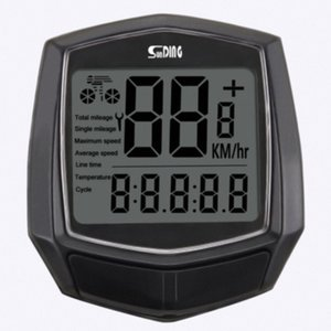 Sensore Wired Accessori per digitali Accessori della bicicletta dell'orologio retroilluminazione bicicletta tachimetro nero impermeabile cronometro Cycl 88IP #