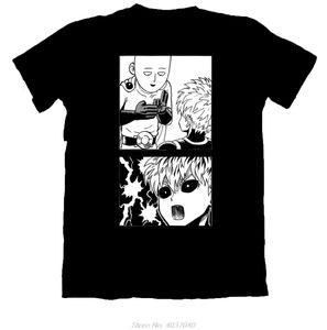 Один Удар Man Сайтама И Genos Unisex Футболки Марка Одежда Мужчины с коротким рукавом Хлопок Tshirt тройники Harajuku