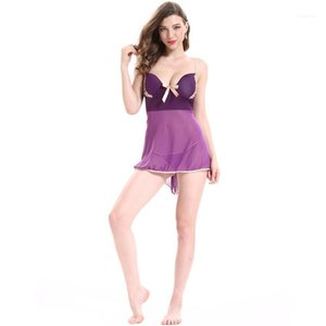 Повседневные женщины скольжения платья XXXL Марля Пижамка рукава See Through Ladies Underwear