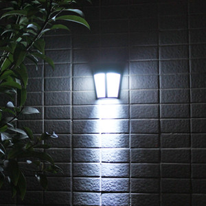 أضواء LED الشمسية مصباح الجدار لحديقة فناء ساحة درب كراج مدخل مغطاة المسار الشمسية ستريت فانوس crestech