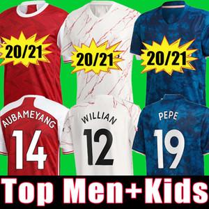 Arsenal WILLIAN  fc HOMBRES conjuntos de niños uniformes 2020 2021 kits de fútbol ARSENAL camiseta de fútbol 20 21 PEPE AUBAMEYANG HENRY WILLIAN camiseta de fútbol tops de fútbol