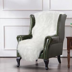 Шерстяной ковер ковровое покрытие Диван Спальня нерегулярной формы 120X75cm Теплый Пушистый Ковровые украшения стул Разноцветный FaQM #