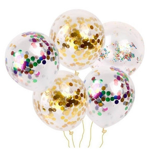 100pcs Gold Confetti Balloons 12 Inches Party Balloons With Golden Paper Confetti Dots For Party Decorations Wedding Decorations