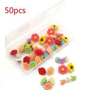 50 шт Металл Точка Cork Board Thumb Tacks Нажмите Pin Цветочный Shaped Drawing Crafts