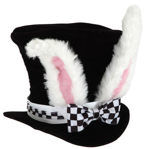 Kids Performance Velvet Costume Easter Party Hat Plush Cute Bunny Ears Gift