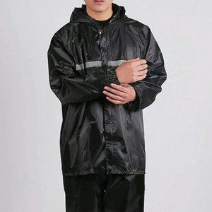 Sola capa establece dividida luminosa y extra de una sola capa más gruesa de trabajo sitio de trabajo impermeable del impermeable traje de protección