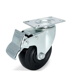 Rubber Castor 4 X Swivel Heavy Duty Universal Wheel High Temperature Truckle Black Casters Multi Function Trundle Creative 13jp A