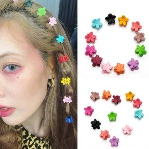 wJlyN Elegante stesso stile piccolo fiore colore dei capelli di colore coreano ins rosse clip di vento sbatte clip di caramelle Candy Net