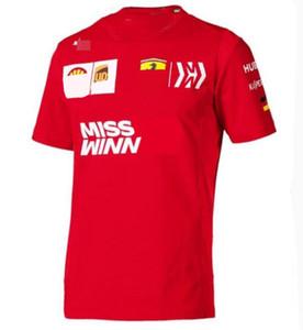 F1 Formula 1 Polo gömlek 2020 Alfa Romeo Kimi Raikkonen yarışı takım elbise kısa kollu yaka çabuk kuruyan kısa kollu tişört