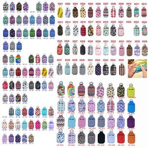 30ml Hand Sanitizer Holder 154 Styles Neoprene Keychain Mini Bottle Cover Multicolor Rectangle Shape Chapstick Holder