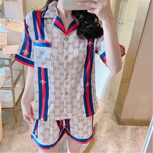 Couple Pyjama Set Femmes Hommes en satin de soie Pyjama Couples manches longues fleurs imprimé nuit Homewear Pj unisexe Pyjama Taille Plus M-3 # 441