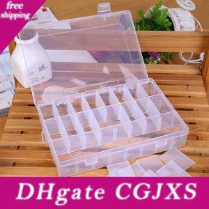 19 0,5 * 13 * 3 .5cm 24 Compartiment plastique transparent Boîte de rangement Petite boîte pour les bijoux Boucles d'oreilles Jouets Container Livraison gratuite Elh040