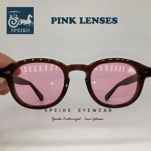 SPEIKE personalizzato d'epoca lenti rosa occhiali da sole Johnny Depp Lemtosh stile retrò occhiali da sole possono essere miopia