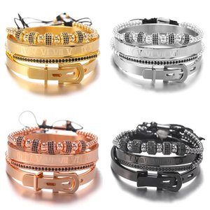 HOT luxury designer jewelry mens bracelets hip hop bracelet with crown ball retro pouplar old fashion punk beads bracelets