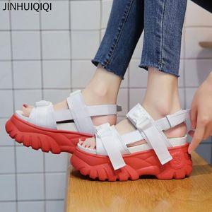 Platform Women's Sandals Outdoor Summe Buckle Women 8 Cm Increased Beach Sandal Girls Training Female Walking Shoes